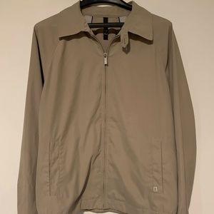 Zegna Men's Tan Bomber Jacket Size Large